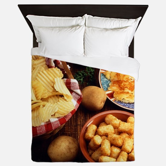 Potato Foods Queen Duvet