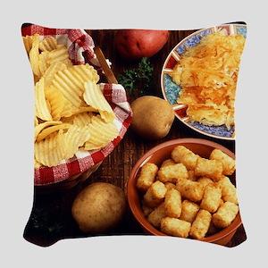 Potato Foods Woven Throw Pillow