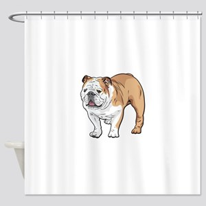 bulldog without text Shower Curtain