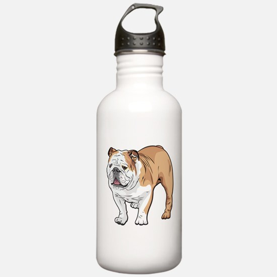 bulldog without text Water Bottle