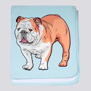 bulldog without text baby blanket