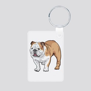 bulldog without text Aluminum Photo Keychain