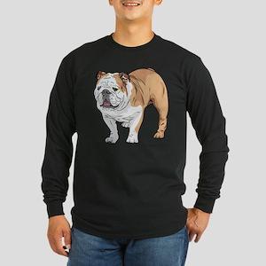 bulldog without text Long Sleeve Dark T-Shirt