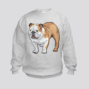 bulldog without text Kids Sweatshirt