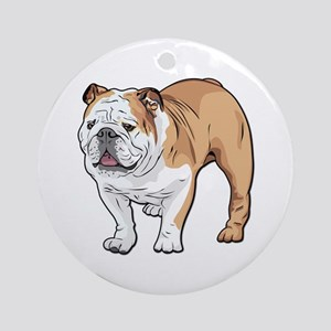bulldog without text Ornament (Round)