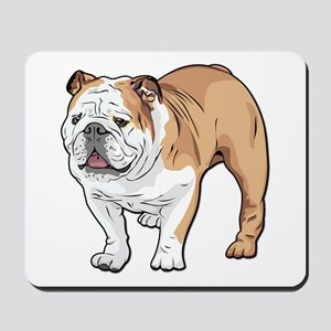bulldog without text Mousepad