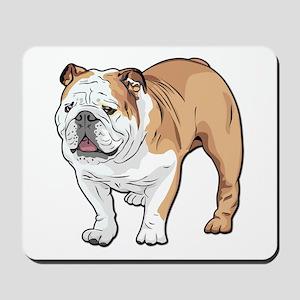 bulldog without text Mousepad