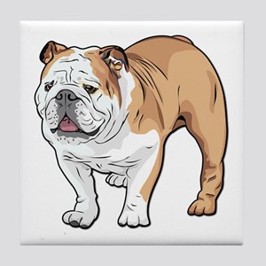 bulldog without text Tile Coaster