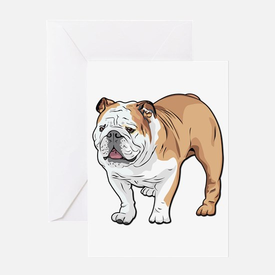 bulldog without text Greeting Card