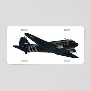 Douglas DC-3 - No Text Aluminum License Plate