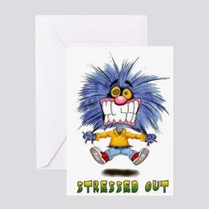 Zoink Stressed Greeting Card