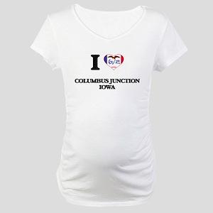 I love Columbus Junction Iowa Maternity T-Shirt