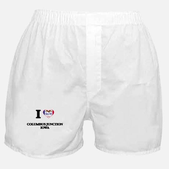 I love Columbus Junction Iowa Boxer Shorts