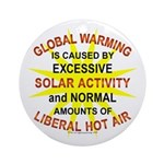 Global Warming Ornament (Round)