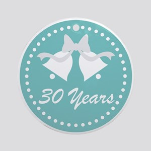30th Anniversary Wedding Bells Ornament (Round)