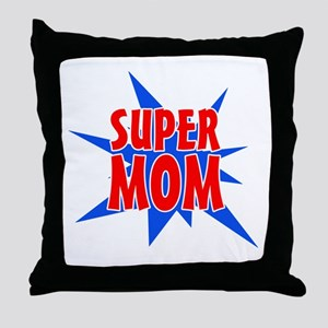 Super Mom Mother's Day Design Throw Pillow