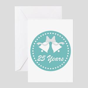 25th Anniversary Wedding Bells Greeting Card