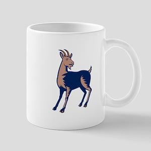 Mountain Domestic Goat Woodcut Mugs
