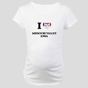 I love Missouri Valley Iowa Maternity T-Shirt
