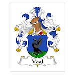 Vogl Family Crest Small Poster