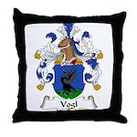 Vogl Family Crest Throw Pillow