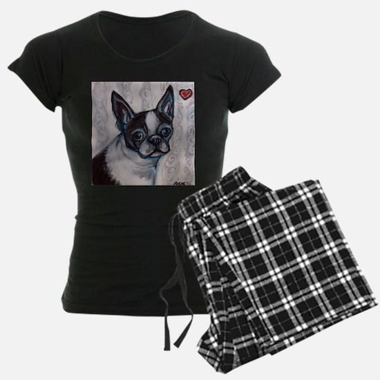 Unique Boston terrier valentine Pajamas