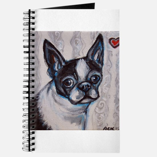 Cute Boston terrier valentine Journal