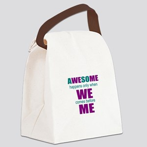 Soccer motivational Canvas Lunch Bag