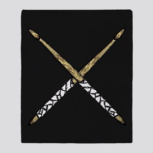 Drumsticks Throw Blanket