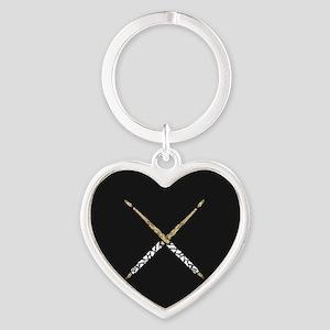 Drumsticks Heart Keychain