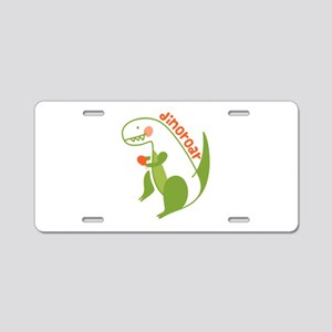T Rex Dinosaur Aluminum License Plate