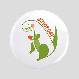 T Rex Dinosaur Button