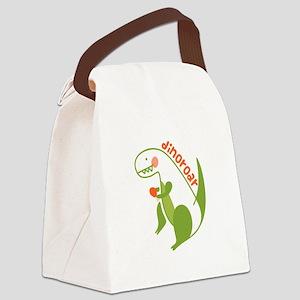 T Rex Dinosaur Canvas Lunch Bag