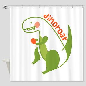 T Rex Dinosaur Shower Curtain