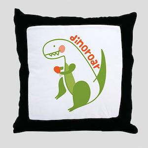 T Rex Dinosaur Throw Pillow