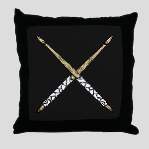 Drumsticks Throw Pillow