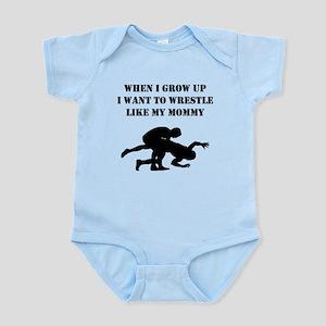 Wrestle Like My Mommy Body Suit