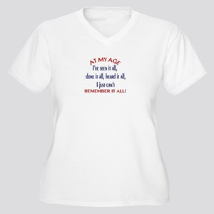 AT MY AGE.... Women's Plus Size V-Neck T-Shirt