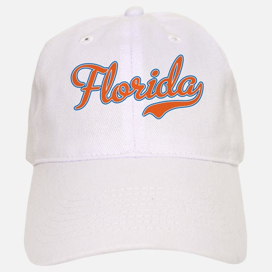 Florida Script Orange Baseball Baseball Cap