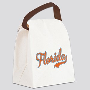 Florida Script Orange Canvas Lunch Bag
