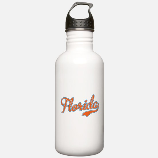 Florida Script Orange Water Bottle