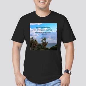 UPLIFTING JOHN 3:16 Men's Fitted T-Shirt (dark)