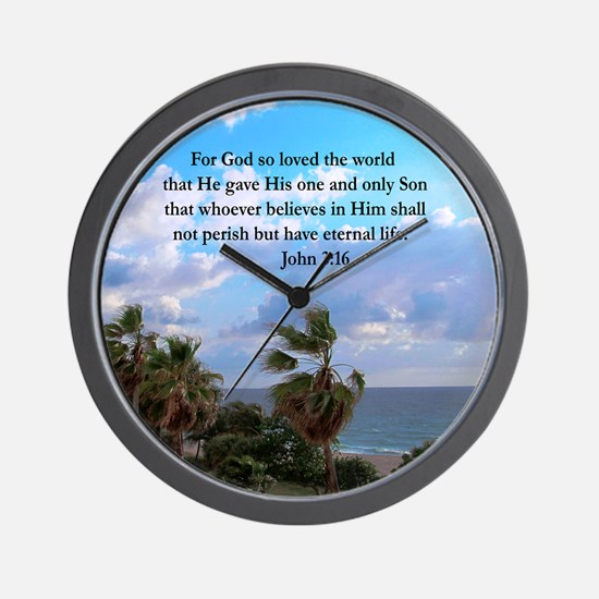 UPLIFTING JOHN 3:16 Wall Clock