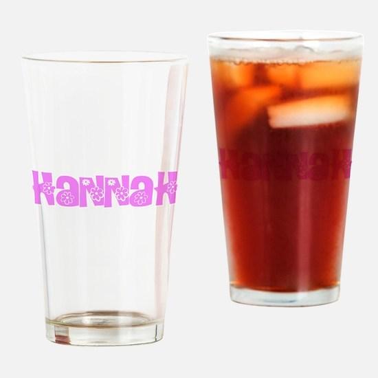Hannah Flower Design Drinking Glass