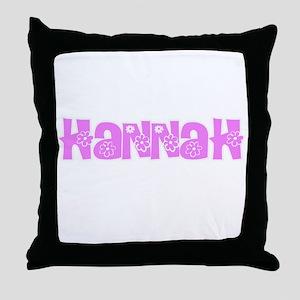 Hannah Flower Design Throw Pillow