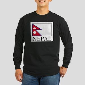 Nepal Long Sleeve Dark T-Shirt