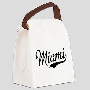 Miami Script Canvas Lunch Bag