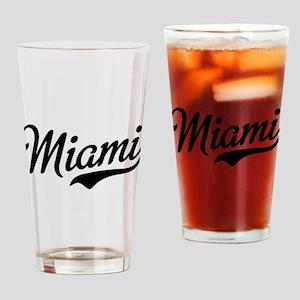 Miami Script Drinking Glass