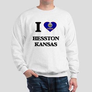 I love Hesston Kansas Sweatshirt