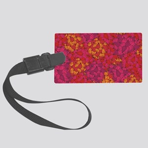 Coral Floral Luggage Tag